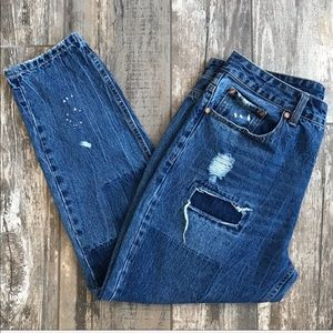 Cotton On destructed boyfriend ankle jeans Sz 8
